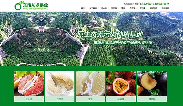 农业绿色网站建设