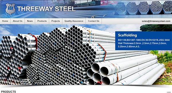 无缝钢管英文网站设计,无缝钢管外贸网站