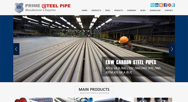 焊管英文网站设计,焊管外贸网站
